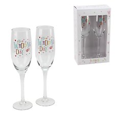Blue Eyed Sun Wedding Day Flutes