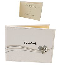 Heart Icon Wedding Guest Book