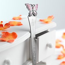 Pink Butterfly Letter Opener / Bookmark (Personalised)