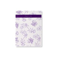 bella purple wedding thank you card