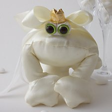 Cream Satin Ring Bearer Frog