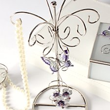 Purple Butterfly Jewellery Holder