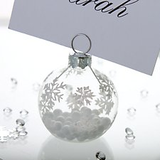 Snowflake Bauble Place Card Holder