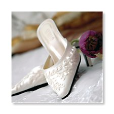bridal shoes evening invitation