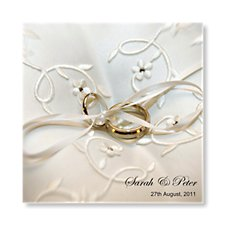 wedding rings evening invite