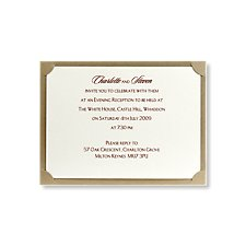 breathtaking gold evening invitation