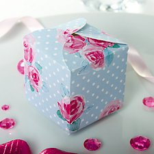 vintage rose favour box