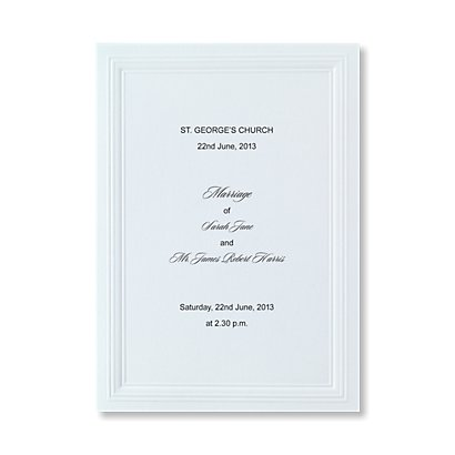 Order Of Service View All Wedding Stationery Bride Amp Groom