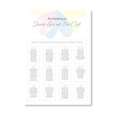 pretty petals a3 wedding table plan