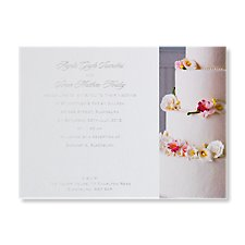 classic cake evening invite