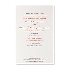 accentuate evening invite