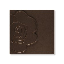 chic brown wedding invite