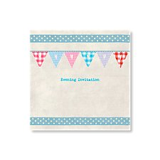 Bunting Evening Invitation