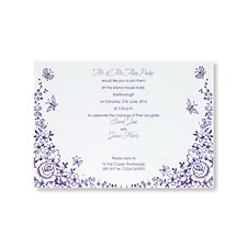 Butterflies and Flowers Evening Invitation