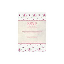 Vintage Floral Reply Card