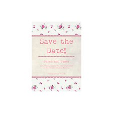 Vintage Floral Save the Date Card