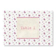 Vintage Floral Table Card
