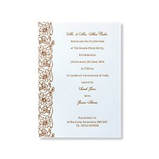 Flowers and Birds Evening Invitation