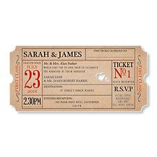 Ticket to Love Day Invitation