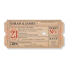 Ticket to Love Evening Invitation