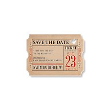 Ticket to Love Save the Date