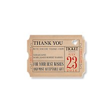 Ticket to Love Thank You Card